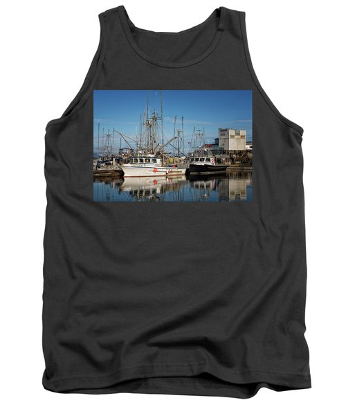 Tank Top featuring the photograph Sandra M And Lasqueti Dawn by Randy Hall