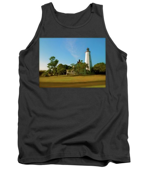 Tank Top featuring the photograph Sandy Hook Lighthouse by Iconic Images Art Gallery David Pucciarelli