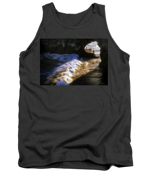 Santa Cruz 'bridge' California Coastline Tank Top
