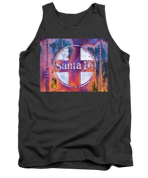 Tank Top featuring the photograph Santa Fe Rr by Lou Novick