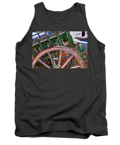 Tank Top featuring the photograph Santa Fe Spokes by Stephen Anderson