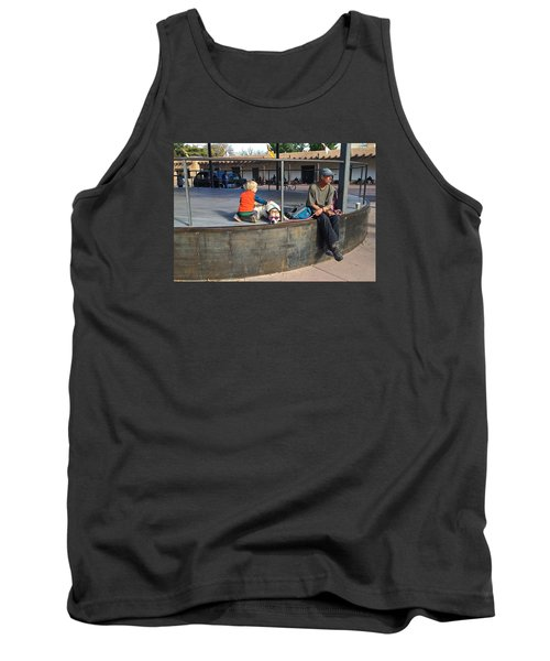 Tank Top featuring the photograph Sante Fe Chill by Brenda Pressnall