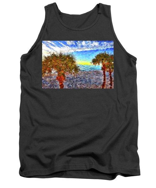Sarasota Beach Florida Tank Top by Joan Reese