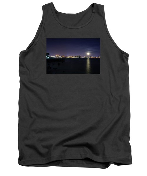Sarasota Cityscape-night-full Moon 2 Tank Top