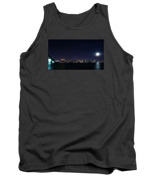 Sarasota Cityscape-night-full Moon Tank Top