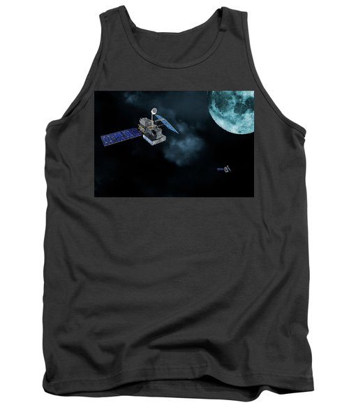 Satellites In Orbit Around The Moon Tank Top by Christian Lagereek