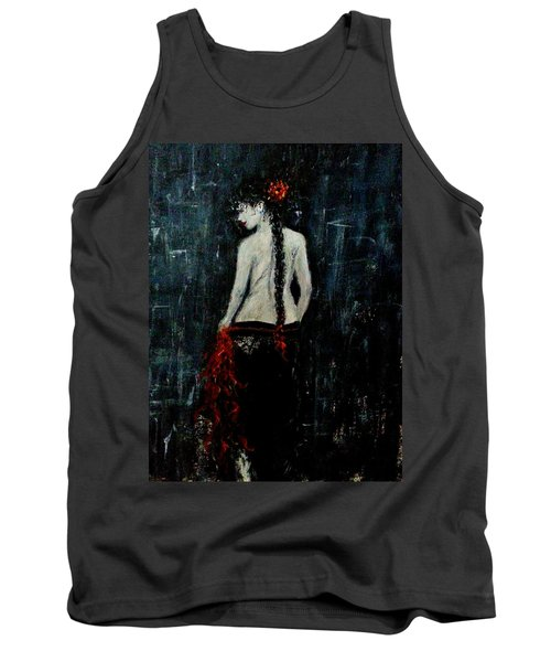 Tank Top featuring the painting Saturday Evening  by Cristina Mihailescu