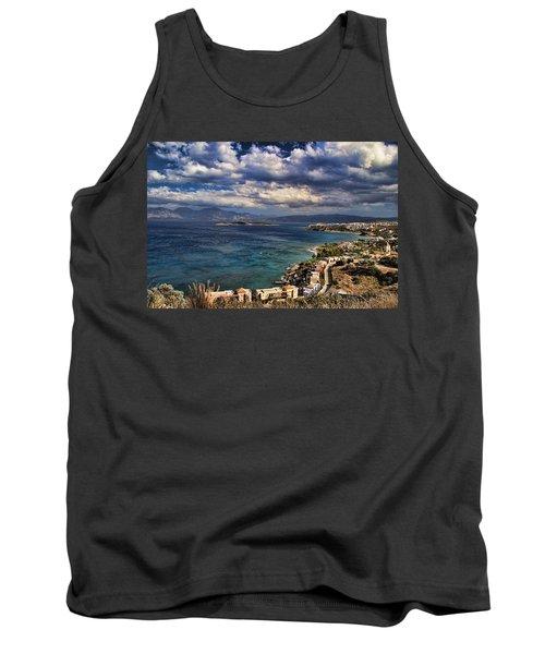 Scenic View Of Eastern Crete Tank Top