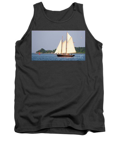 Schooner Cruise, Casco Bay, South Portland, Maine  -86696 Tank Top by John Bald