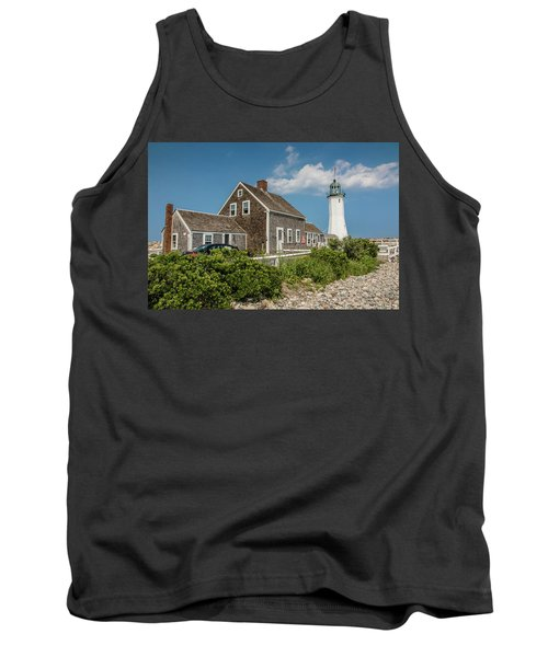 Tank Top featuring the photograph Scituate Lighthouse In Scituate, Ma by Peter Ciro