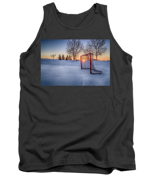 Tank Top featuring the photograph Scoring The Sunset 3 by Darcy Michaelchuk