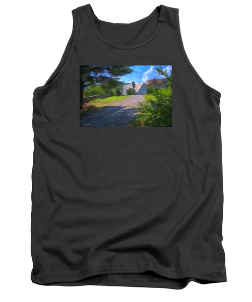 Tank Top featuring the photograph Scott Farm Summer by Tom Singleton