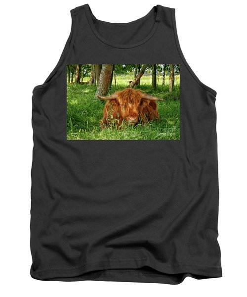 Tank Top featuring the photograph Scottish Higland Cow by Patricia Hofmeester
