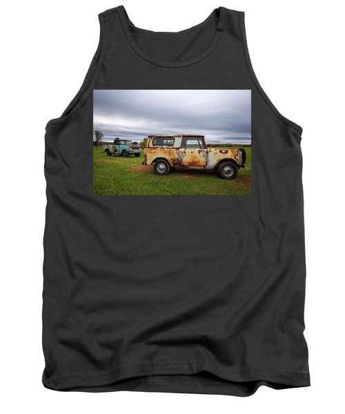 Tank Top featuring the photograph Scouts And Sky by Alan Raasch