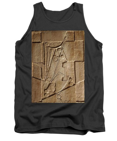 Sculptured Panel - Influenced By Picasso's Painting Having The Number 1 Tank Top