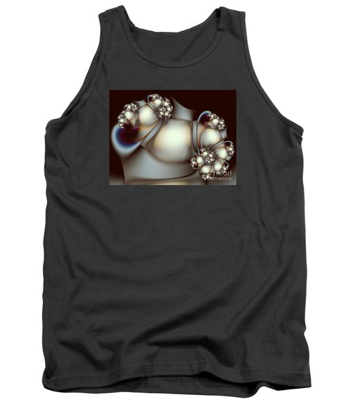 Tank Top featuring the digital art Sculpture by Karin Kuhlmann
