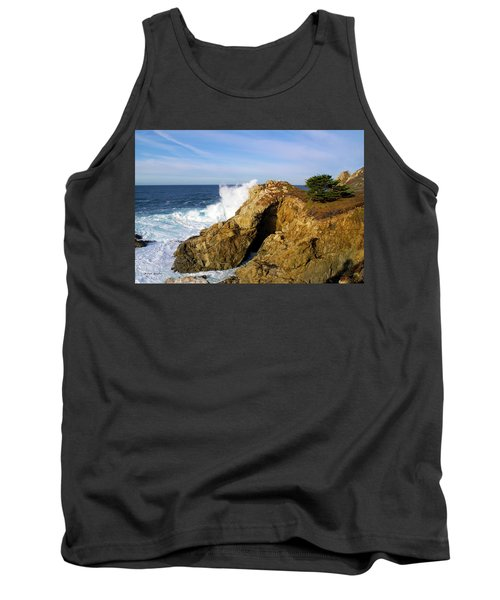 Tank Top featuring the photograph Sea Cave Big Sur by Floyd Snyder