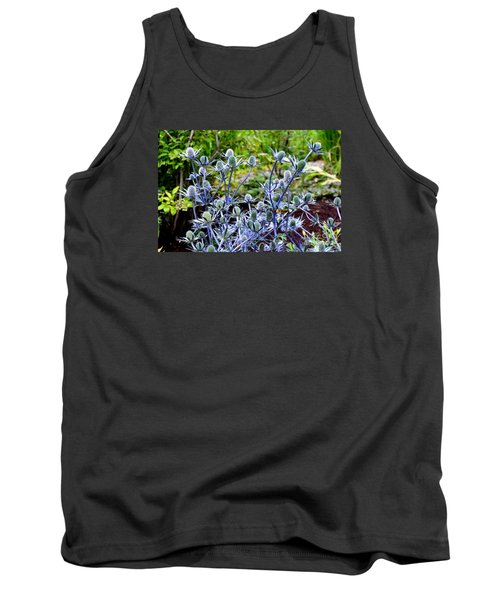 Sea Holly Blooming Tank Top by Tanya Searcy