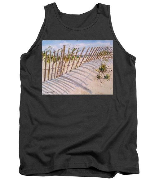Sea Oats And Shadows Tank Top