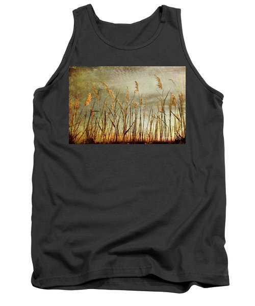 Sea Oats And Sky On Outer Banks Fx Tank Top by Dan Carmichael