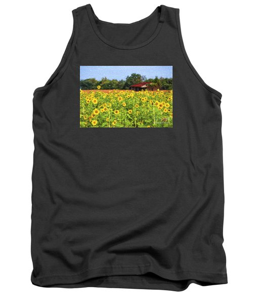 Sea Of Sunflowers Tank Top by Bonnie Barry