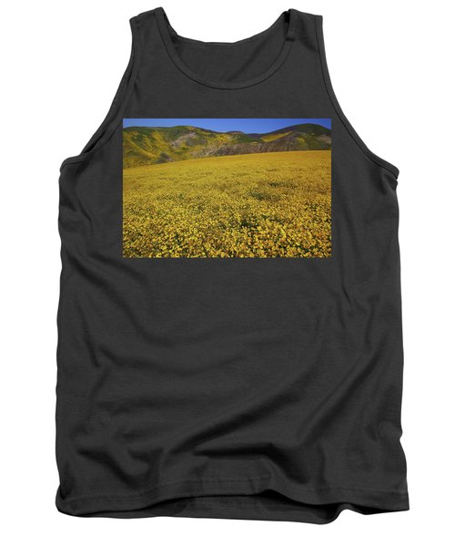 Tank Top featuring the photograph Sea Of Yellow Up In The Temblor Range At Carrizo Plain National Monument by Jetson Nguyen