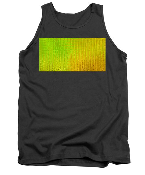 Sea Song Green And Gold Tank Top