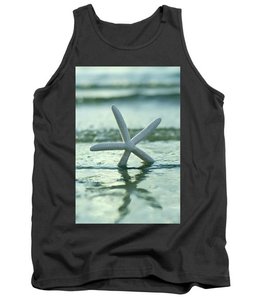 Tank Top featuring the photograph Sea Star Vert by Laura Fasulo