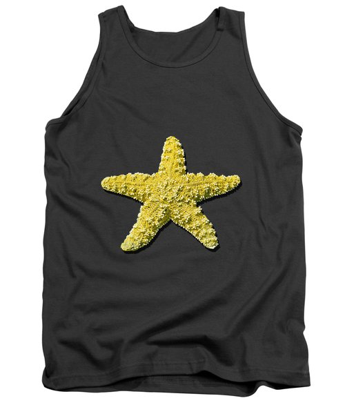 Tank Top featuring the photograph Sea Star Yellow .png by Al Powell Photography USA