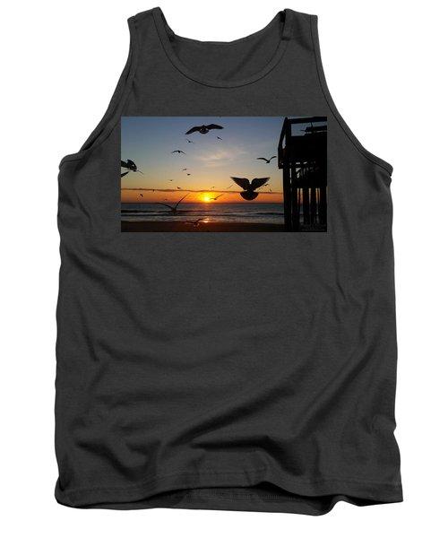 Seagulls At Sunrise Tank Top