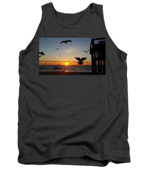 Seagulls At Sunrise Tank Top