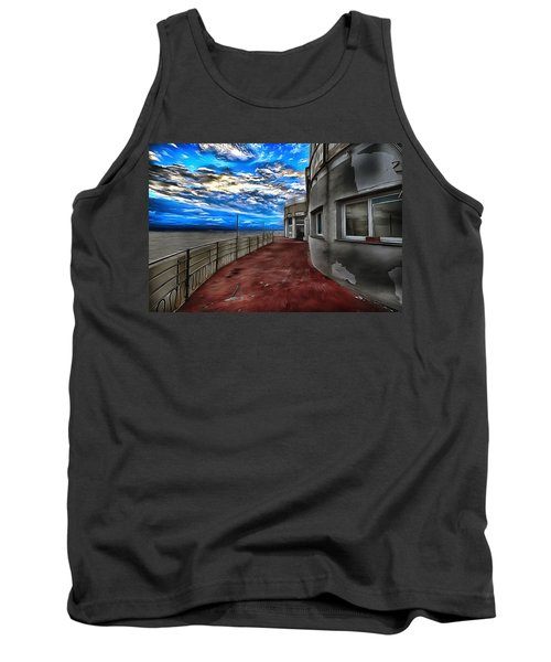 Seascape Atmosphere - Atmosfera Di Mare Dig Paint Version Tank Top
