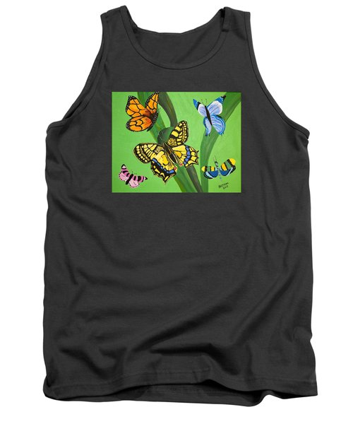 Season Of Butterflies Tank Top by Donna Blossom