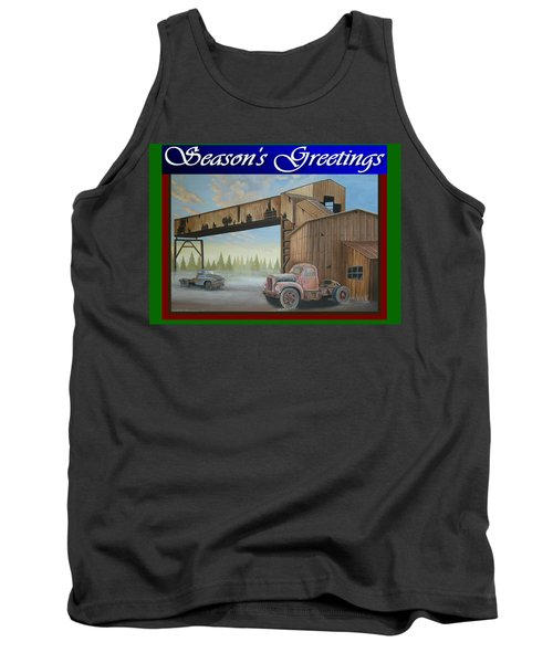Tank Top featuring the painting Season's Greetings Old Mine by Stuart Swartz