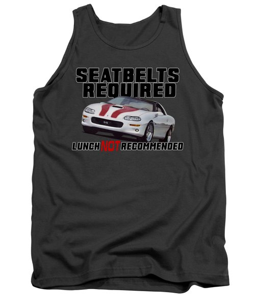 Seatbelts Required With Camaro Tank Top