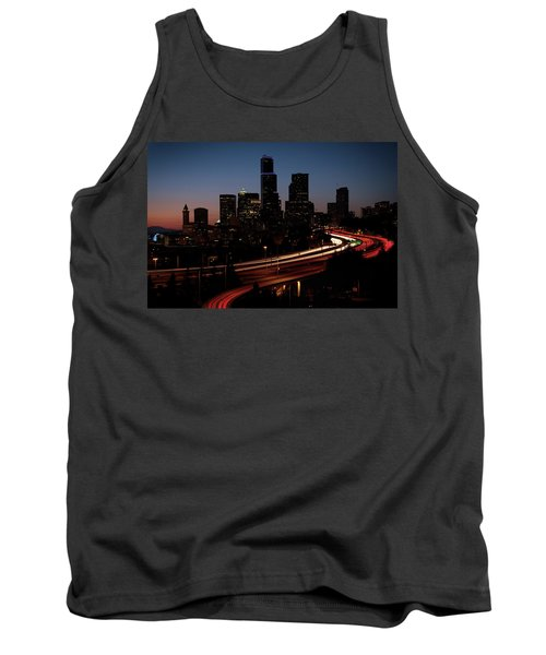 Seattle At Dusk Tank Top