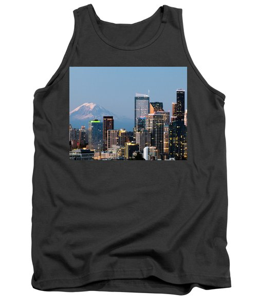 Seattle At First Light II Tank Top by E Faithe Lester