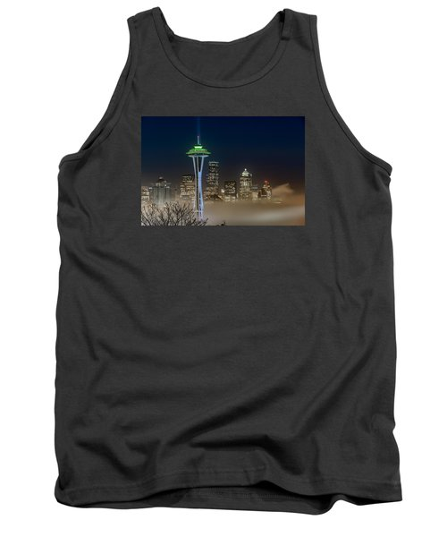 Seattle Foggy Night Lights Tank Top