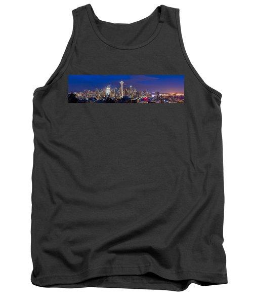 Seattle Night View Tank Top by Ken Stanback
