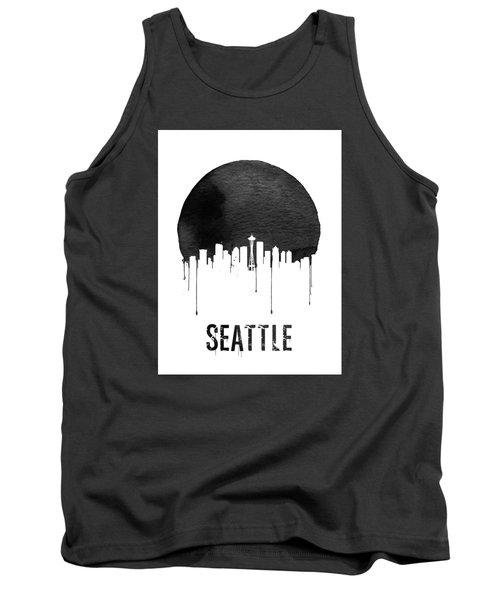 Seattle Skyline White Tank Top