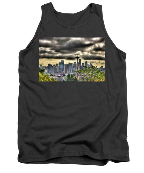 Seattle Washington Tank Top by David Patterson