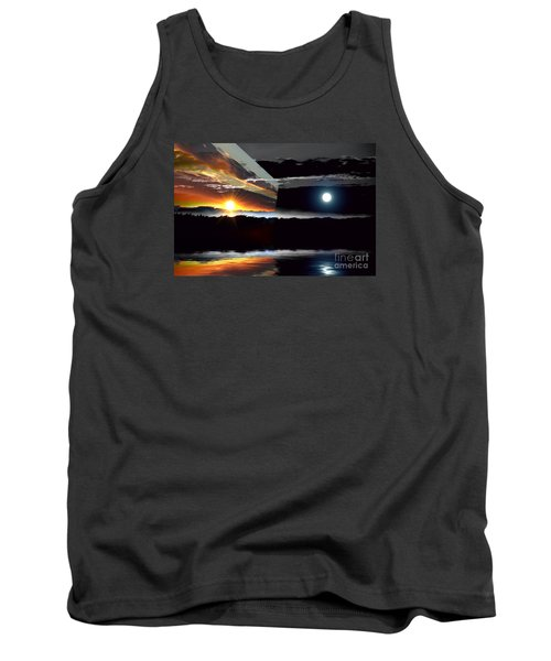 Sechelt Sunset Day And Night Tank Top by Elaine Hunter