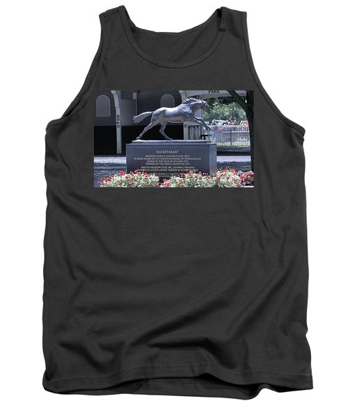 Tank Top featuring the photograph Secretariat by  Newwwman