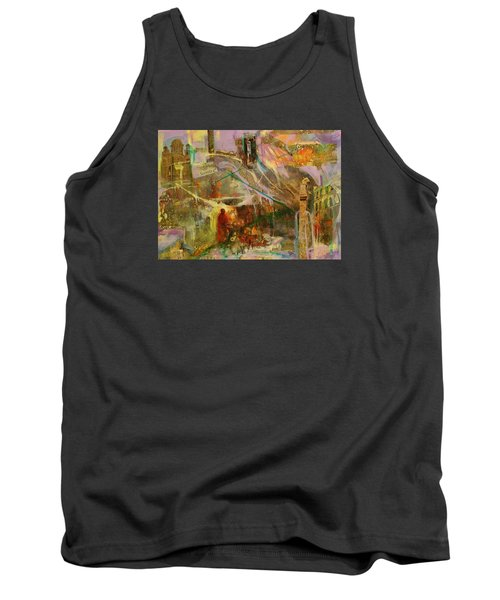 Tank Top featuring the mixed media Secrets by Mary Schiros