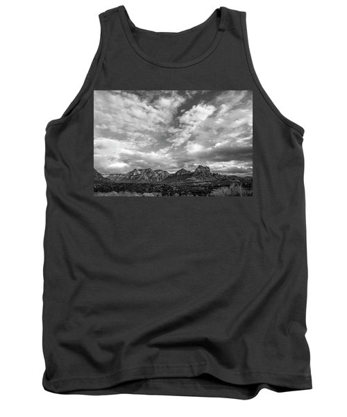 Tank Top featuring the photograph Sedona Red Rock Country Bnw Arizona Landscape 0986 by David Haskett