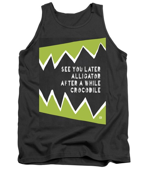 Tank Top featuring the painting See You Later Alligator by Lisa Weedn