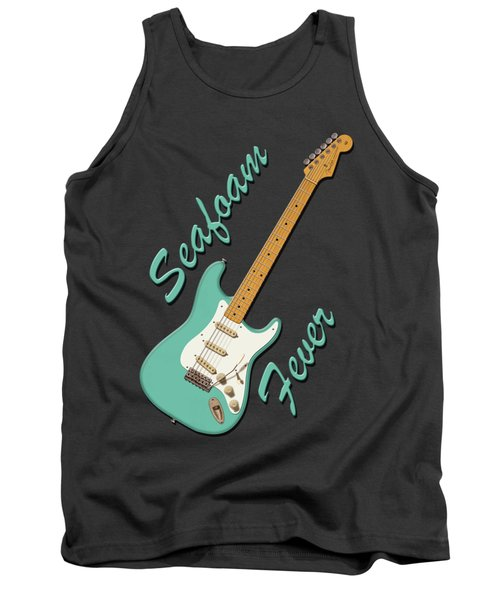 Tank Top featuring the digital art Seafoam Fever by WB Johnston
