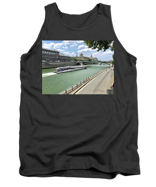 River Seine In Paris Tank Top