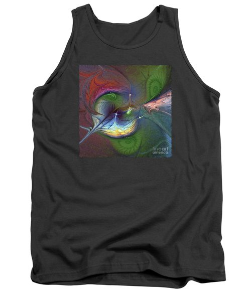 Tank Top featuring the digital art Sentimental Journey by Karin Kuhlmann