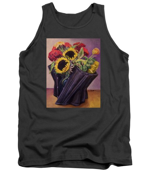 Tank Top featuring the painting September Cincher by Laura Aceto